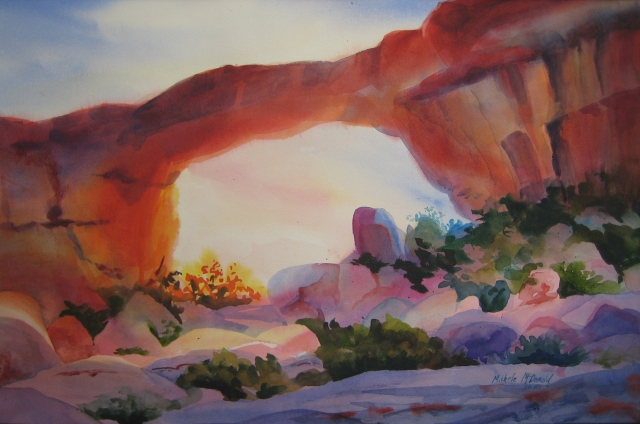 Desert Arch at Sunset McDonald (1)